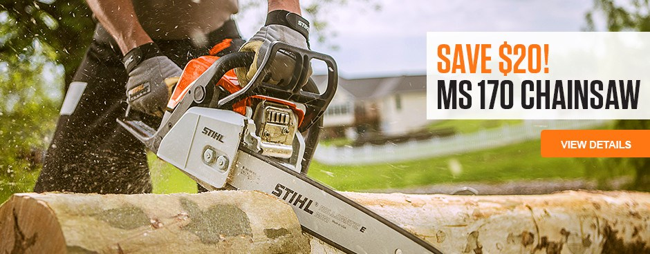 Save $20 on MS 170 Chainsaw